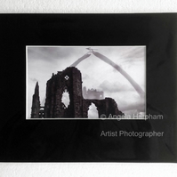 Whitby Gothic Abbey Monochrome Photograph