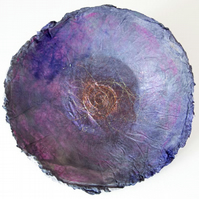 Shallow Dish Wall Hanging Decorative Silk Lilac Blue