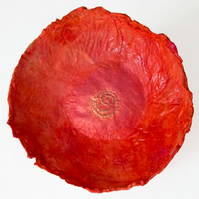 Decorative Silk Dish Flame Orange