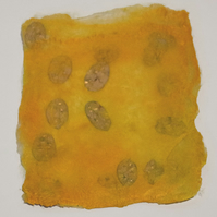 Saffron Yellow Silk Paper Sheet with Inclusions for your Projects