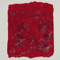 Red Silk Paper Sheet