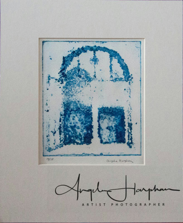 Original Etching Blue Dusk Dreaming