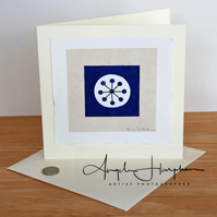 Large Card Unique Hand Prinmted Ultramarine