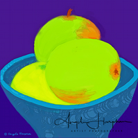 iPad Drawing Green Apples