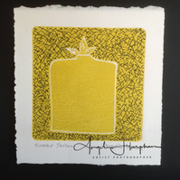 Original Linoprint Bottled Yellow