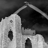 Whitby Black and White Composite Photograph Gothic Abbey