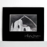 Whitby Black and White Photograph Gothic Abbey