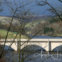 Ladybower Reservoir and Bridge Photo