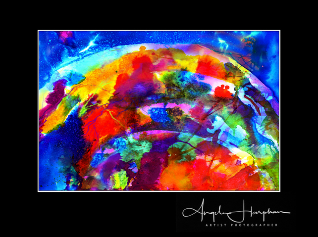Inkjet Print of Fine Art Ink Abstract Rainbow