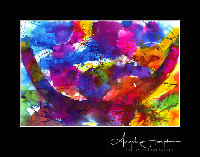 Large Fine Art Print Semi Abstract Art Celebration