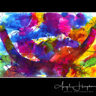 Large Inkjet Print Semi Abstract Art Celebration
