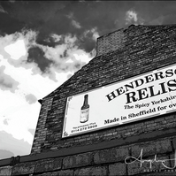 Black & White Photograph Henderson's Relish Building Sheffield