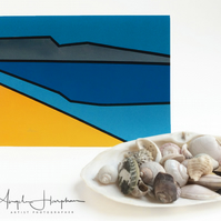 Blank Greeting Card Coastal Estuary Re Imagined