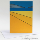 Bright Seascape I Art Card