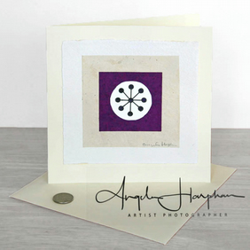 Art Card Large Unique Blank - Purple