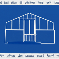 Blue Greenhouse Blank Card