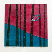 Collograph Print Autumn Wonder