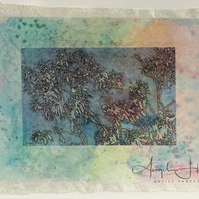 Eucalyptus on Handmade Paper Photograph