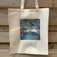 Canvas Tote Bag with Mt Fuji Design
