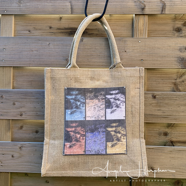 Jute Bag with Unique Hedgerow Design