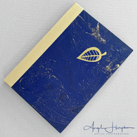 Sketchbook - Notebook Blank Paper with Blue Marbled Cover