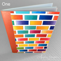 A6 Bright Blank Notebook Journal Sketchbook with Paint Chart Design.