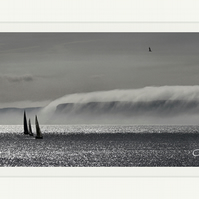 Fine Art Photograph Atmospheric Scarborough Misty Dawn