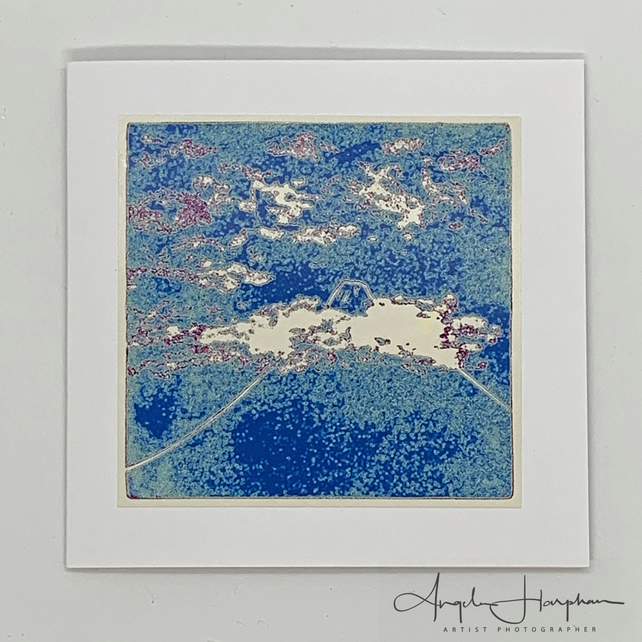 Mt Fuji Blank Square Art Card