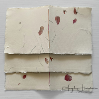 Square Hand Stitched  Blank Artist Sketchbook with Handmade Paper Covers