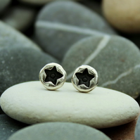 star ear studs, star earrings, cute, round earrings, designer, handmade, stars
