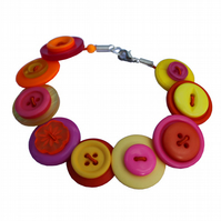 Indian Summer Button Bracelet