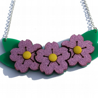 Acrylic Blossom Necklace