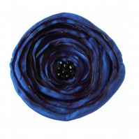 Large Royal Blue Fabric Poppy Corsage