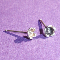 Sterling Silver Blossom Stud Earrings