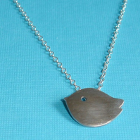 Little Chick Sterling Silver Pendant