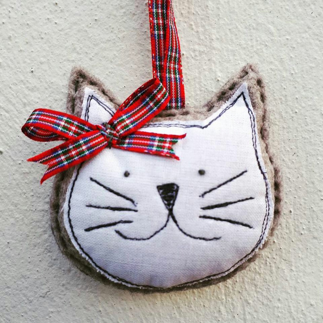 Personalised Cat Christmas Tree Decoration