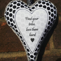 Hanging heart decoration with friendship quote