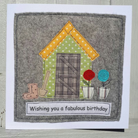 Textile Birthday Card