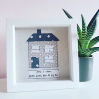 Personalised textile house frame