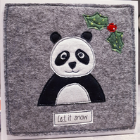Cute Christmas panda card