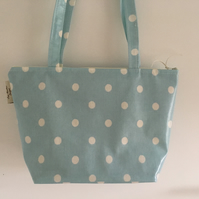 Tote bag,shopping bag,handbag,Book Bag,Cath kidston blue spotty oilcloth