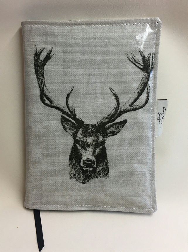 A5 diary cover,Journal cover,Planner cover,Week to view A5 diary,stags head