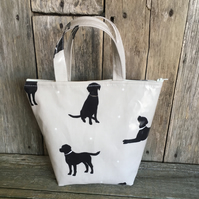 Insulated lunch bag,lunch bag,cool bag,school bag,Labrador oilcloth