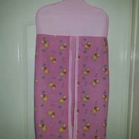 Pink pooh bear  hanging nappy diaper stacker