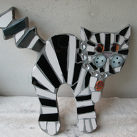 Mosaic Black and grey Cat