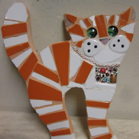 Mosaic Ginger Cat