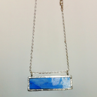 Sky blue glass necklace