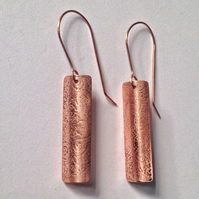 Curved Copper earrings