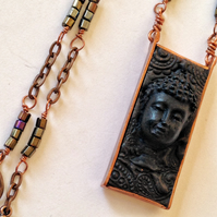 Buddha and bead necklace