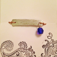 Bracelet Paisley with a blue glass bead